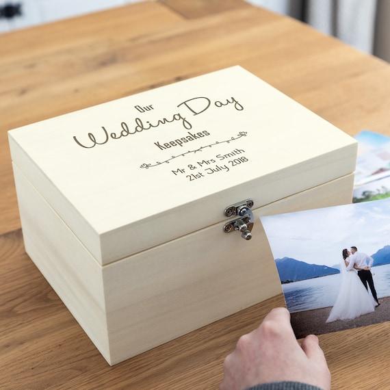 Wedding Day Keepsake Mr and Mrs Ring Rings Keepsake Floral Wedding Proposal Personalised Ceramic Heart Wedding Rings Box Ivory
