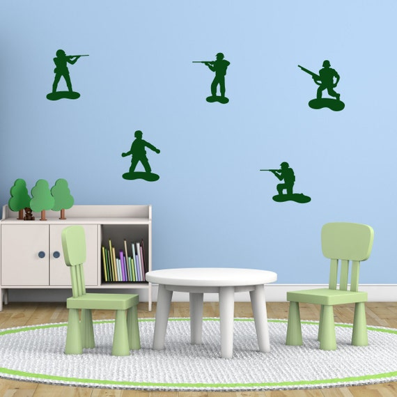 Kids Toy Soldiers Wall Stickers Army Wall Decals Boys Wall Art Boys Bedroom Wall Transfers Mp028