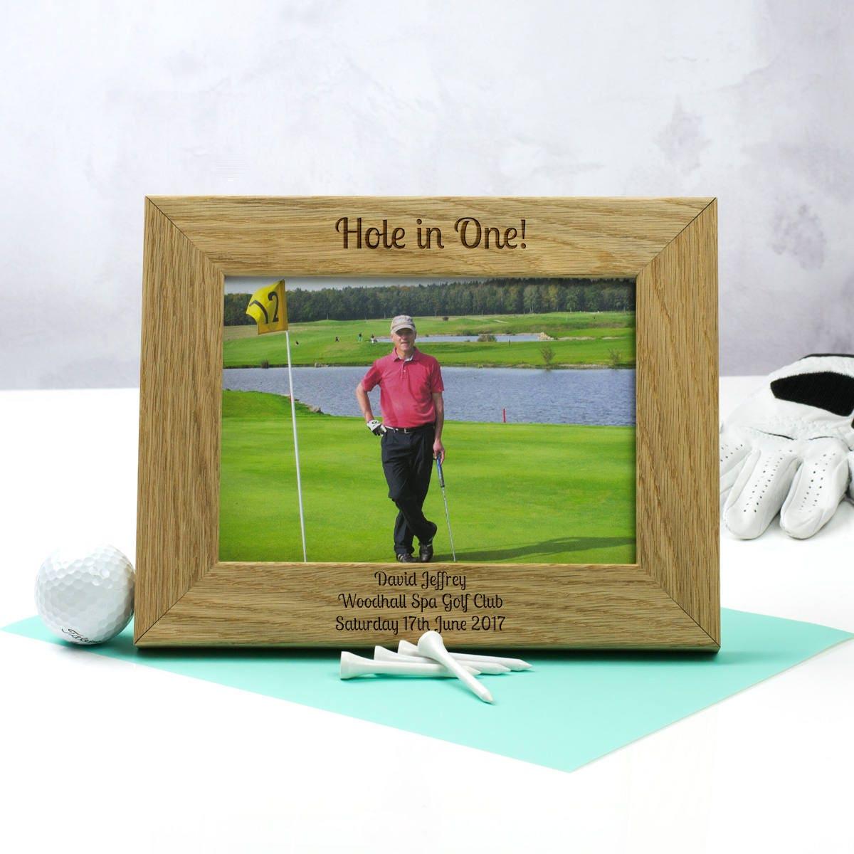 Golf-Foto-Rahmen personalisierte Loch In einem Bilderrahmen | Etsy