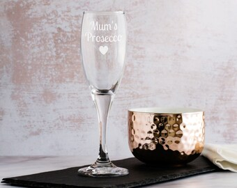Personalised Prosecco Glass - Prosecco Champagne Flute - Champagne Glass - Prosecco Gift - Gift For Her - Gifts For Mum - LC123
