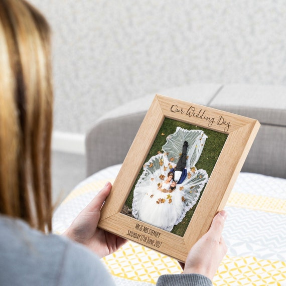 Oak Picture Frame LC581 Wedding Gifts For Couple Personalised Wedding Frame Wedding Photo Frame Photo Frame Gift For Couple