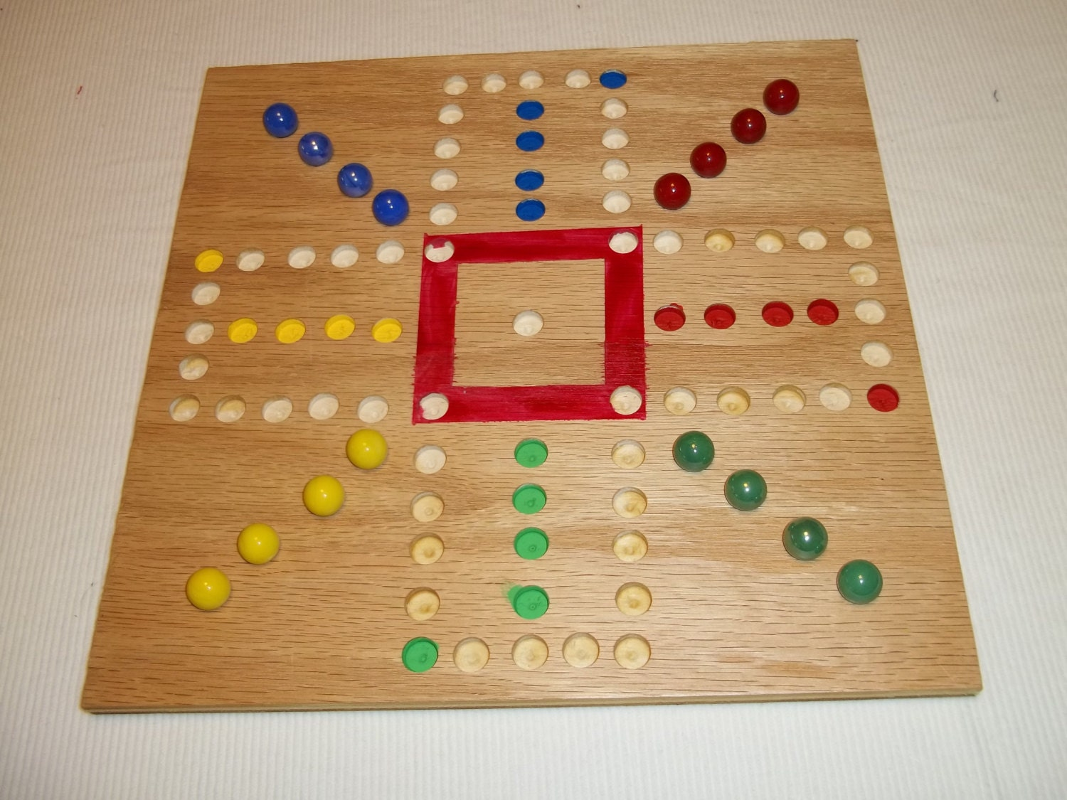 Aggravation Board Game 4 Player 12 X 12 Etsy