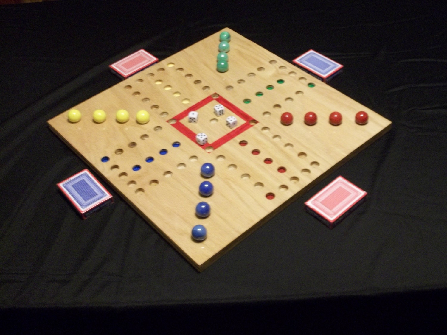 Aggravation Board Game 4 Player 18 X 18 Etsy