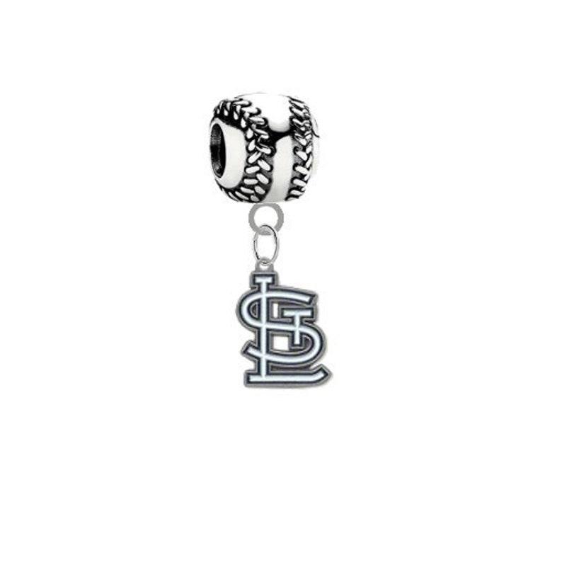 Fits All Major Brands St Louis Cardinals 3D Baseball Universal European Dangle Bracelet Charm