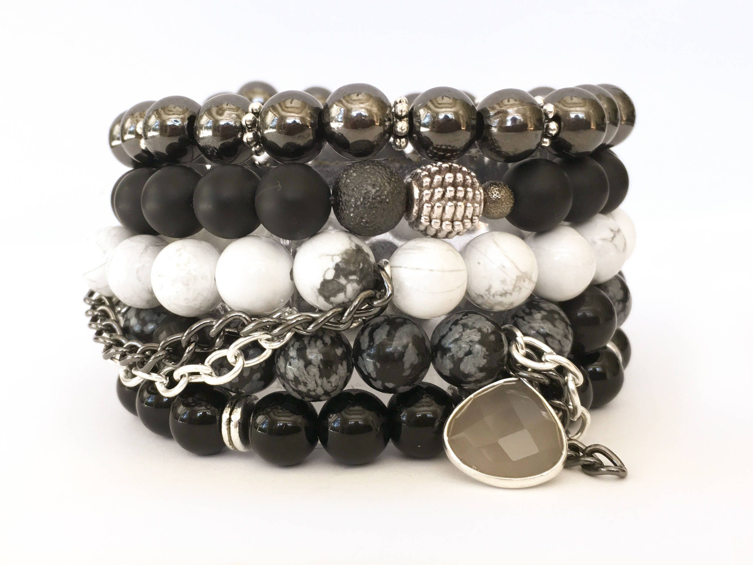 double crucible collections bracelet west bracelets s natural layered stone bead men mens products wide