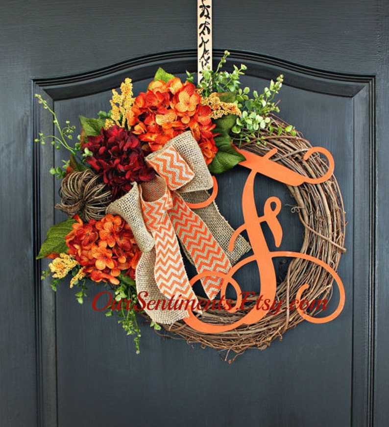Fall Wreaths Hydrangea Wreaths  Wreaths for fall  Hydrangea image 0