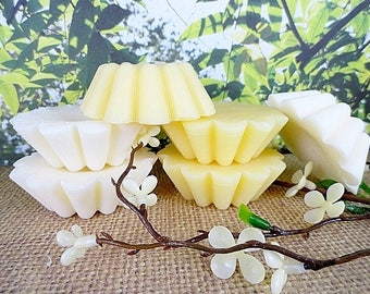 Beeswax Tarts Set of 3 Hand Poured Natural Beeswax Candle Yellow Beeswax Or White Highly Scented Candle Melts Flameless Candle Tarts Gift