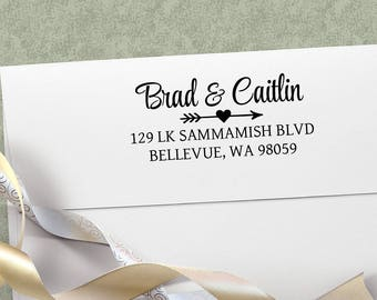 Wedding Gift Personalized Return Address Stamp, Return Address Stamper, Stamp for Wedding Announcements, Calligraphy WeddingStamp