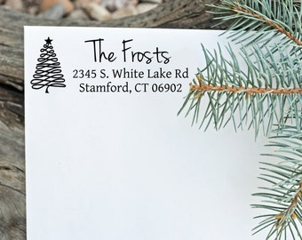 Christmas Return Address Stamp - Choose your graphic - Holiday Stamp