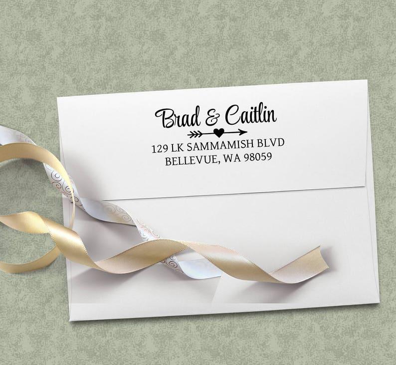 Wedding Gift Personalized Return Address Stamp Return Address image 0