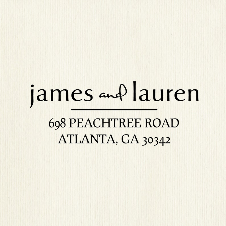 Unique Personalized High Quality Rubber Address Stamp Wedding image 0