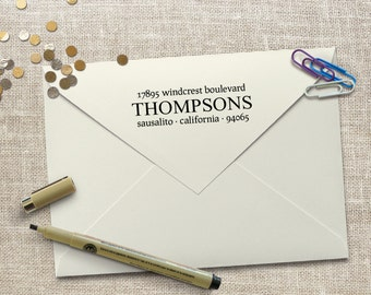 Personalized  housewarming gift, Custom Return Address Stamp, wedding gift, personalized realtor gifts