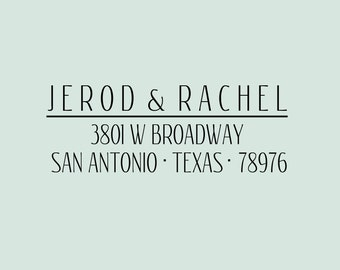 Custom Return Address Stamp - Personalized for you - Great for gift giving