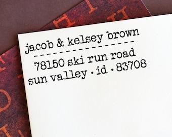 Return Address Stamp Personalized  - Custom Self Inking Address Stamp