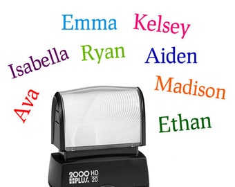Name stamp for kids - Childrens personalized rubber stamp - Kid's stamper - Self inking customized stamper -