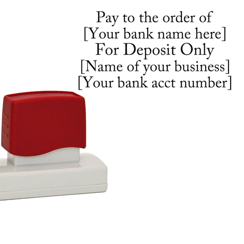 FOR DEPOSIT ONLY Stamp Self Inking For Business Or Home High