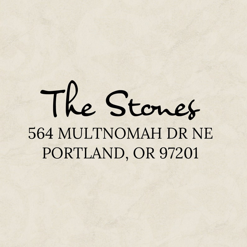 Pre-inked Rubber Address Stamp Customized for your envelopes image 0