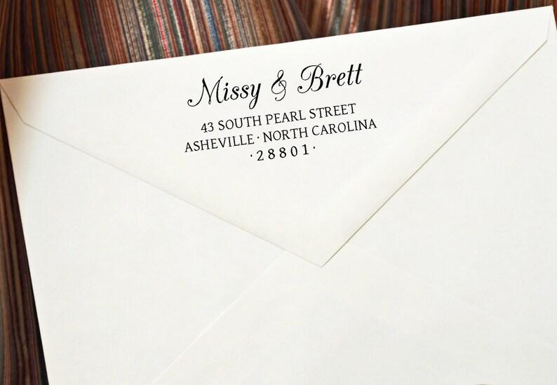 Stamp  Wedding stamp  Address Stamp  Wedding Gift  Custom image 0