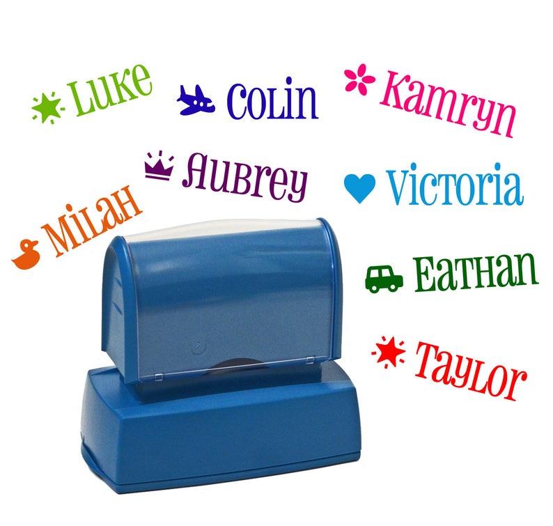 Kids custom name stamp  Personalized Children's name image 0