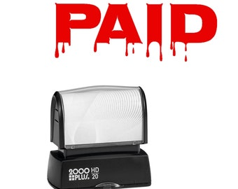 Humorous PAID stamp for business or home - Self Inking Red ink stamp for paying bills or to use with your business including your Etsy shop