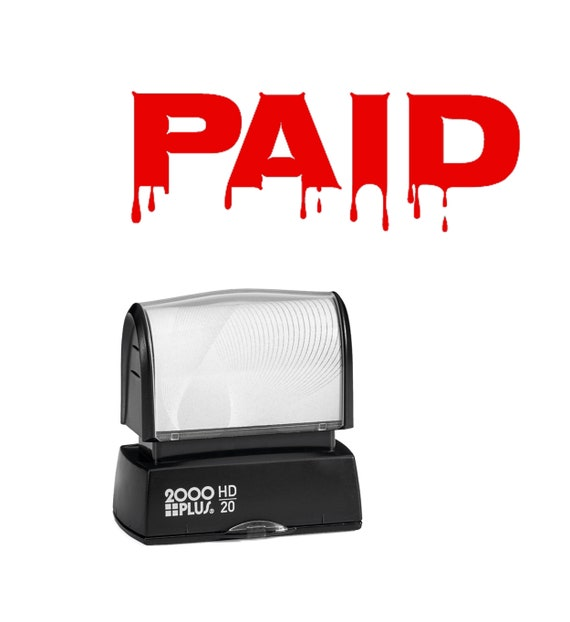 Self-Inking Novelty Message Stamp Red Ink REALLY?!