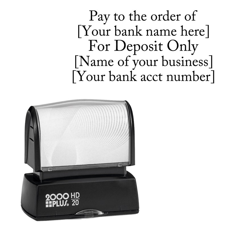 FOR DEPOSIT ONLY stamp self inking for business or home high image 1