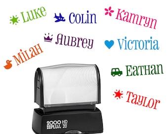 Kids custom name stamp - Personalized Children's name stamp - Kid's stamper - Self inking customized stamper