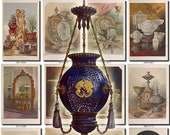 WARES-2 Collection of 122 Pottery Weapons Mirror casket old antiques stuff objects vintage images pictures digital download printable jpg