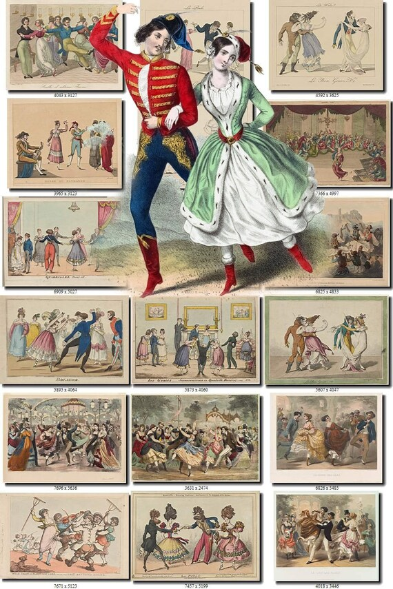 Dances 1 Collection Of 234 Vintage Images With Balet Theatre Etsy
