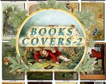 BOOKS COVERS-2 Collection of 115 vintage images High resolution HQ old digital download item images printable clip art scans pictures frames