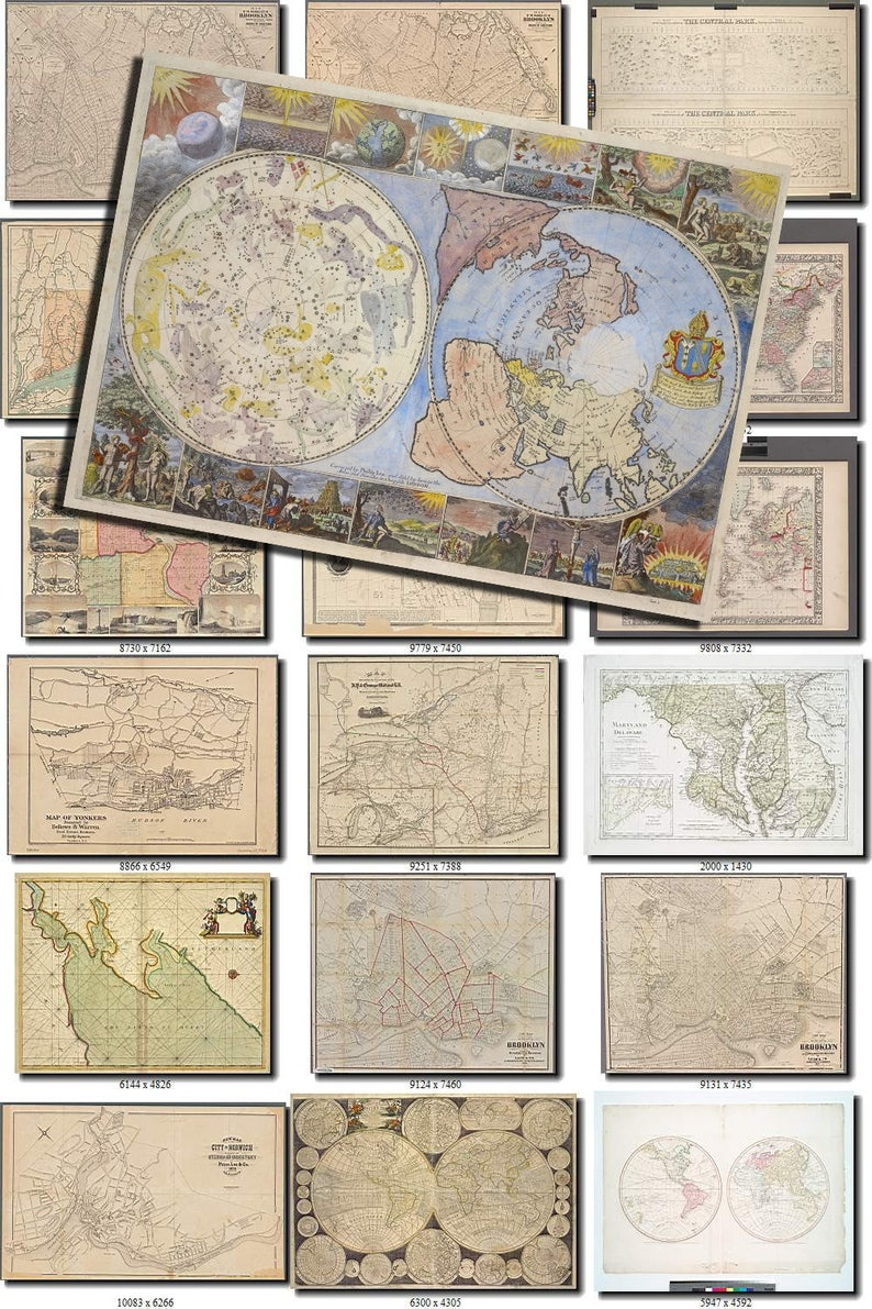 Map 3500.All Antique Maps Set Of 3500 Large Size Images Printable Old Ancient Vintage Download 300 Dpi High Resolution Earth World Globe