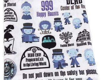 IN STOCK Disneyland Inspired Haunted Mansion Icon Fabric 18 X 21