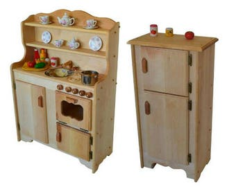 waldorf wooden play kitchen natural toy kitchen wooden toys montessori wooden play stove childs play kitchen pretend play food - Play Kitchen