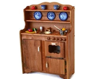 Waldorf Kitchen Wooden Play Kitchen Wooden Toy Kitchen   Montessori Play  Kitchen Hardwood Kitchen  Play Kitchen Wooden Toy  Pretend Kitchen