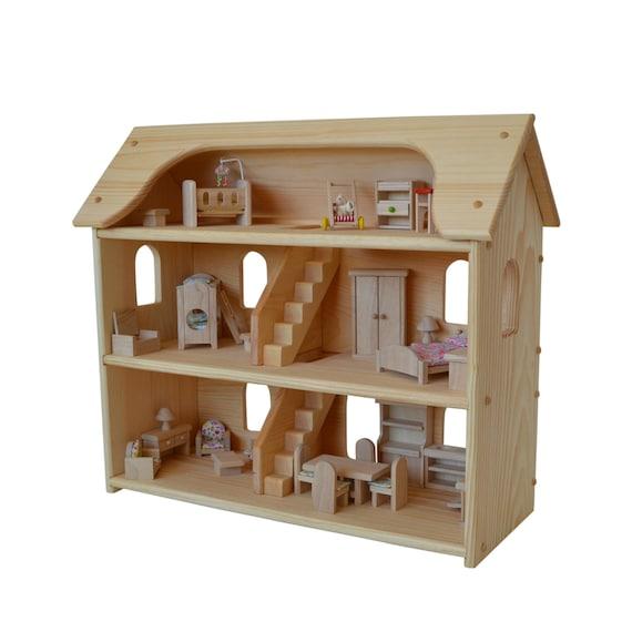 Handcrafted Dollhouse Casa De Munecas Waldorf De Juguete De Etsy