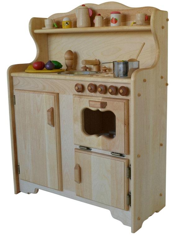 Waldorf child\'s Kitchen-Wooden Play Kitchen -Wooden Toy kitchen -  Montessori Wooden Kitchen - Wooden toys- Play Food- Pretend Play-Kitchen