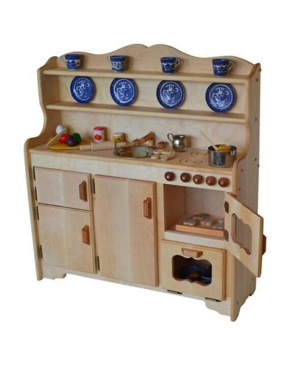 Waldorf Wooden Toy Kitchen-Hardwood Play Kitchen-Play Stove- Hardwood toy  stove-Hardwood Toy Kitchen-Child\'s toy kitchen-Play Kitchen