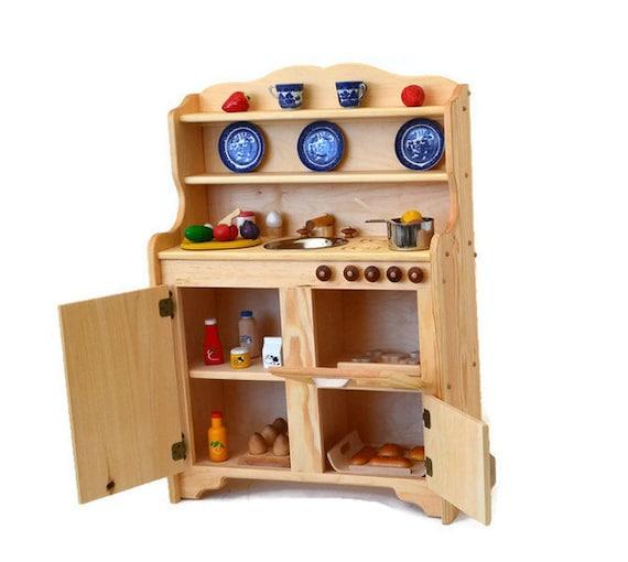 waldorf kitchen wooden play kitchen wooden toy kitchen etsy. Black Bedroom Furniture Sets. Home Design Ideas