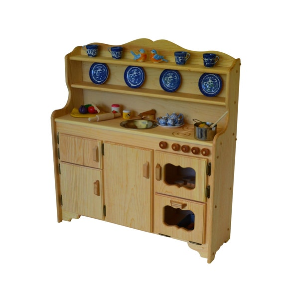 Waldorf Wooden Toy Kitchen- Play Kitchen-Play Stove- toy stove- Toy  Kitchen-Child\'s toy kitchen-Montessori Kitchen