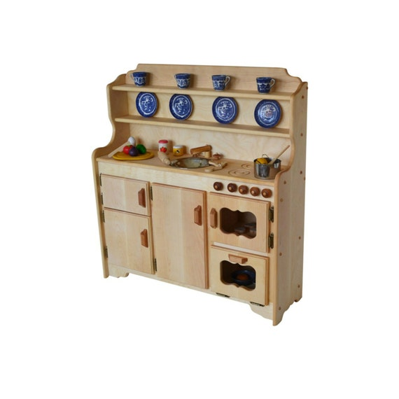 Waldorf Wooden Toy Kitchen-Hardwood Play Kitchen-Play Stove- Hardwood toy  stove-Hardwood Toy Kitchen-Child\'s toy kitchen-Montessori Kitchen
