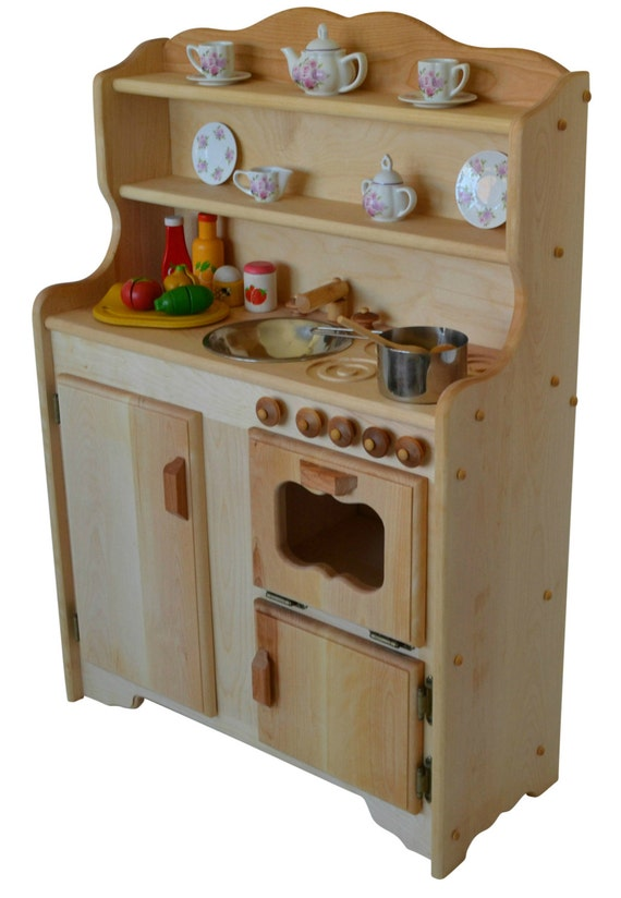 Waldorf kitchen-Wooden Play Kitchen-Wooden Toy kitchen - Montessori play  kitchen-Hardwood kitchen- Play Kitchen-Wooden Toy- Pretend Kitchen