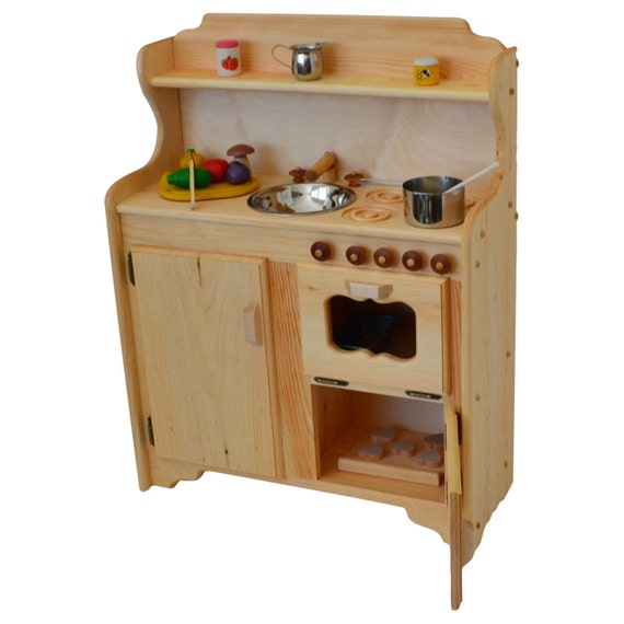 Waldorf Play Stove -Wooden Toy kitchen - Wooden Play Kitchen - Montessori  kitchen- Child\'s Stove- Play Kitchen-Wooden Toys- Play Food
