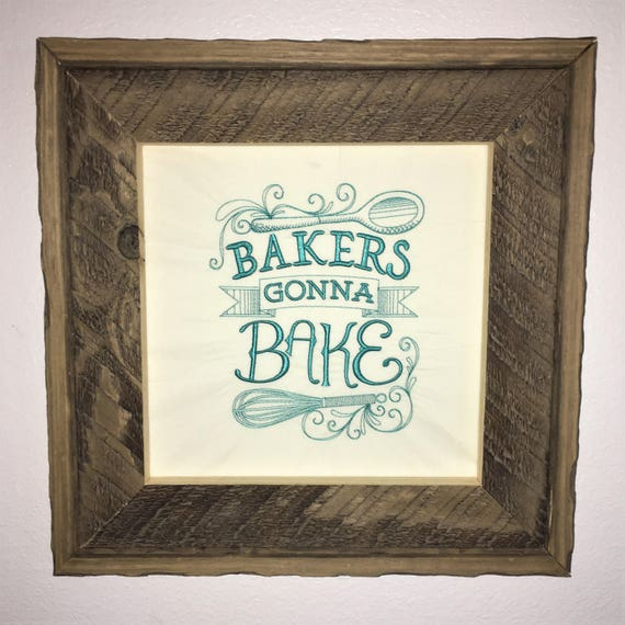 teal rustic embroidered kitchen decor funny kitchen sayings | etsy