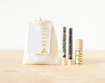BESTIE GIFT SET // Send Your Bestie Some Love Set // Test Tube Mask // Cheeks Lips Tint/Blush Stick