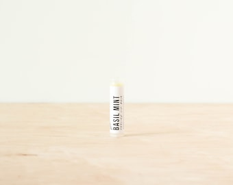 BASIL MINT LIP Balm // Herbal Infused Oils // Healing // Protecting