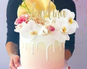 name cake topper custom name cake topper gold name cake topper birthday cake topper bridal shower cake topper name topper cake topper