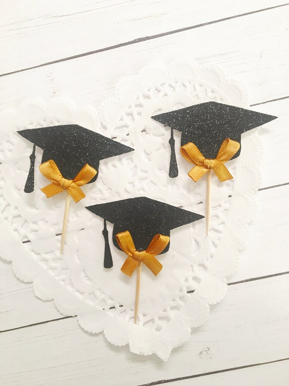 9aa44e2b020c6 Graduation Party Decorations 2018, Graduation Cap Cupcake Toppers ...
