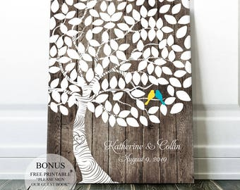 country wedding gift wedding guest book sign wedding tree etsy