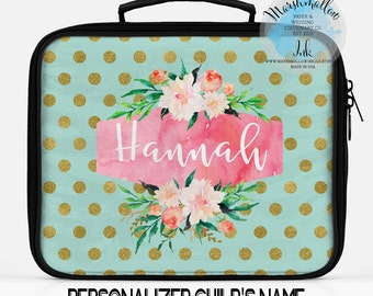 Personalized Lunch Box Bag Monogram Kids O