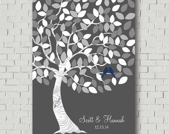 Custom Guest Book Wedding Guestbook Alternative, Wedding Tree Guestbook Tree, Wedding Gift Bridal Shower Gift, Wedding Canvas Wedding Signs